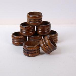 Other - Set of 8 Vintage Wooden Napkin Rings